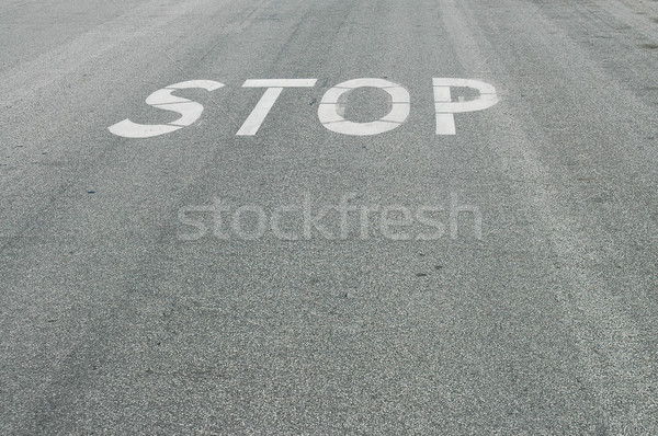 Stop on road Stock photo © disorderly