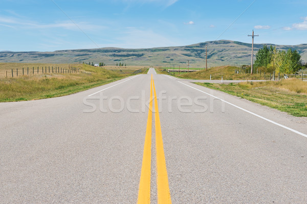 Autópálya út alföld erőd Stock fotó © disorderly