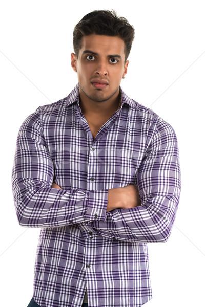 Ellenséges férfi jóképű fiatal indiai agresszív Stock fotó © disorderly