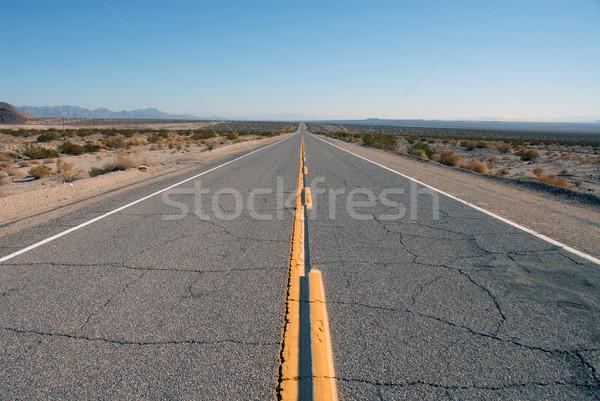 Route 66 lege weg asfalt trottoir perspectief Stockfoto © disorderly