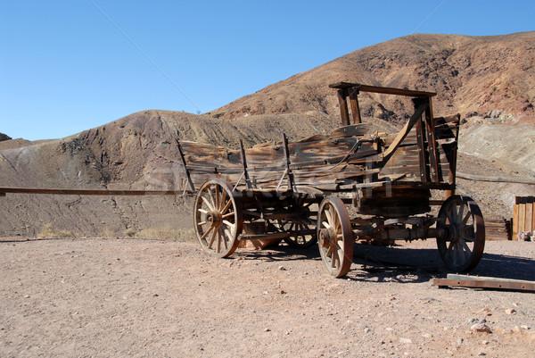 Edad California ciudad muerta desierto transporte Foto stock © disorderly