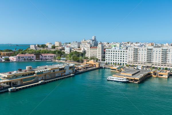 San juan liman Portoriko şehir binalar amerikan Stok fotoğraf © disorderly