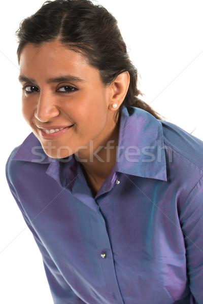 синий блузка красивой высокий индийской женщину Сток-фото © disorderly