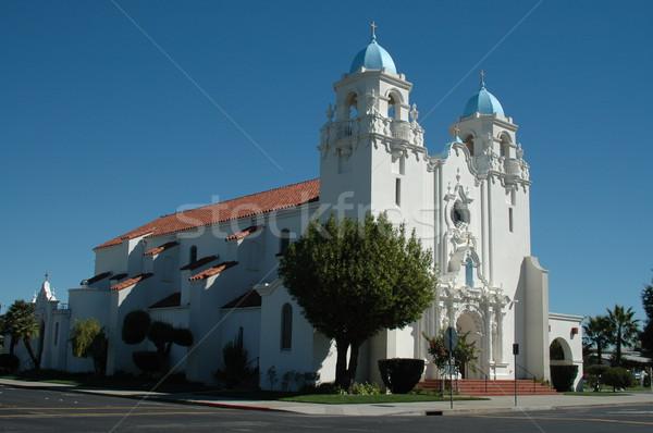 Católico igreja adorar telhado telha religioso Foto stock © disorderly