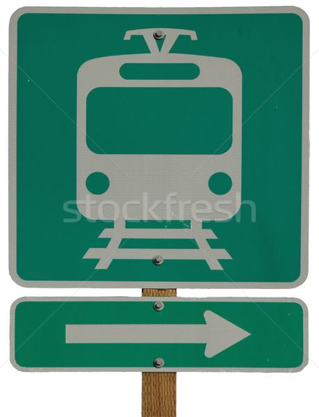 Luz rail estación signo metal Foto stock © disorderly