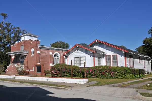Iglesia edificios invierno parque Florida culto Foto stock © disorderly