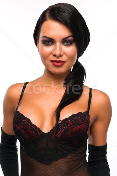 Barna hajú csinos orosz nő lány női Stock fotó © disorderly