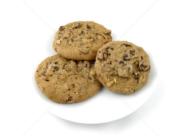 Cookies chocolade chip noten zoete Stockfoto © disorderly