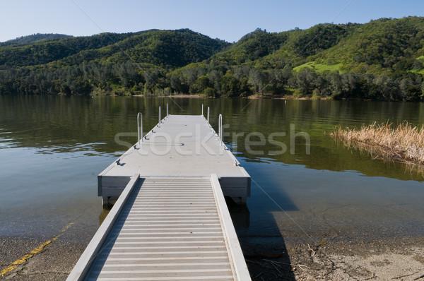 лодка запуск озеро парка трава Сток-фото © disorderly