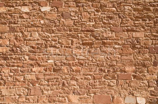 Muro de piedra edad piedra pared plata textura Foto stock © disorderly