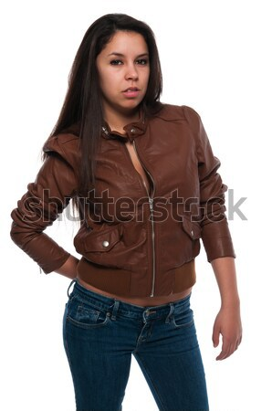 Brown leather Stock photo © disorderly