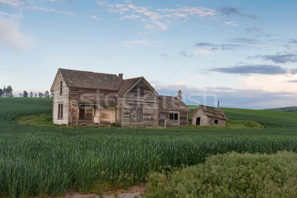 Abandoned house at dusk Stock photo © disorderly