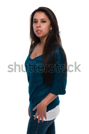 Teal blouse Stock photo © disorderly