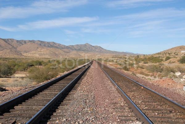 Ferrocarril línea tren colinas punto Arizona Foto stock © disorderly