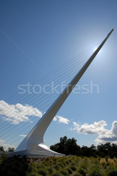 Zegar słoneczny bloków słońce most żółwia wsparcia Zdjęcia stock © disorderly