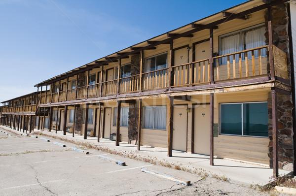 Motel abandonado escritório quarto Nevada Foto stock © disorderly