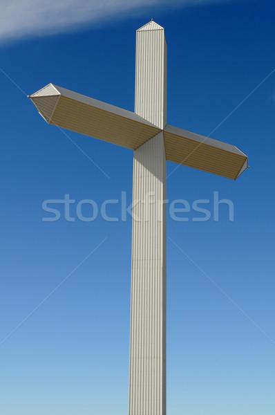 Cruz gigante cielo azul novio Texas culto Foto stock © disorderly
