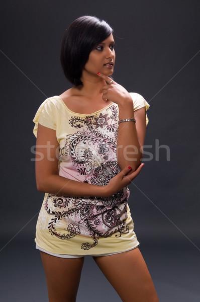 женщину довольно молодые напечатанный блузка Сток-фото © disorderly