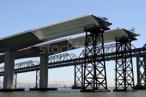 Most San Francisco nowego budowy wody drogowego Zdjęcia stock © disorderly