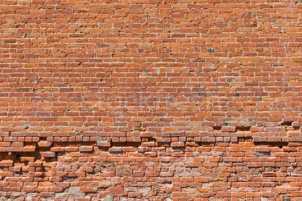 Muro di mattoni vecchio irregolare texture muro sfondo Foto d'archivio © disorderly