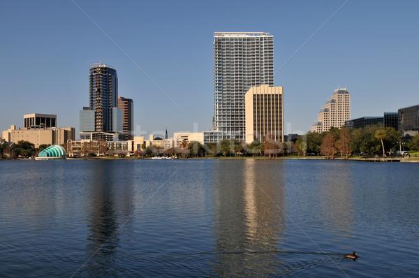 Tó belváros florida épületek park Stock fotó © disorderly