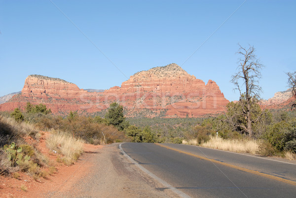 Red rock highway Stock photo © disorderly