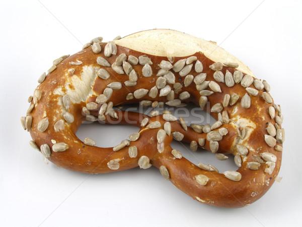 Tuzlu kraker ayçiçeği tohum gıda ekmek Stok fotoğraf © disorderly