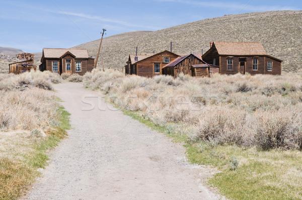 Evleri yol terkedilmiş park Kaliforniya Stok fotoğraf © disorderly