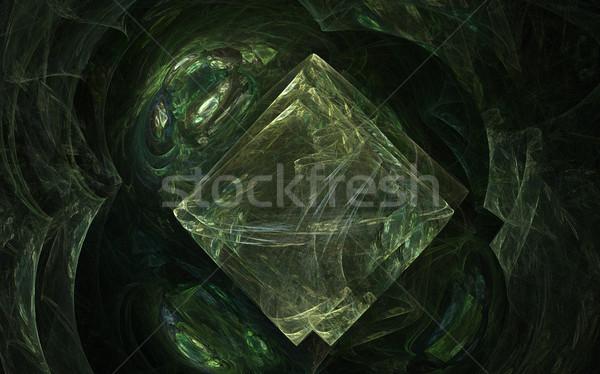 плитки зеленый пещера фрактальный оказанный изображение Сток-фото © disorderly