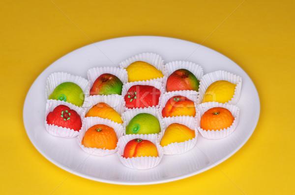 Marzipan fruits Stock photo © disorderly