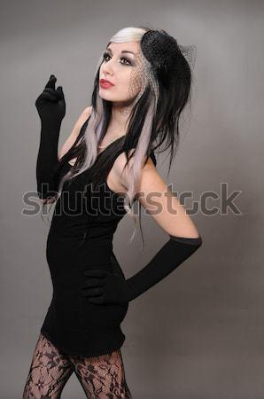 Szingapúri nő karcsú fiatal kínai ezüst Stock fotó © disorderly