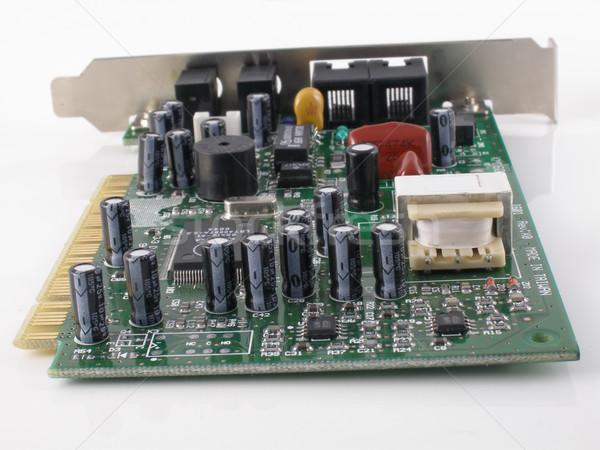 Modem cartão telefone conselho circuito linha Foto stock © disorderly