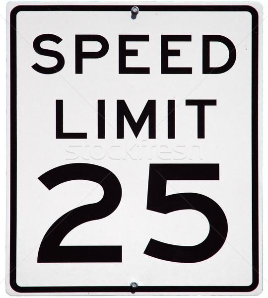Limite de velocidade 25 mph assinar isolado Foto stock © disorderly