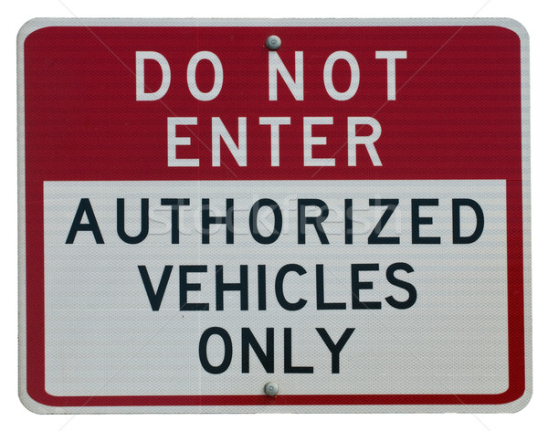 Do Not Enter Stock photo © disorderly