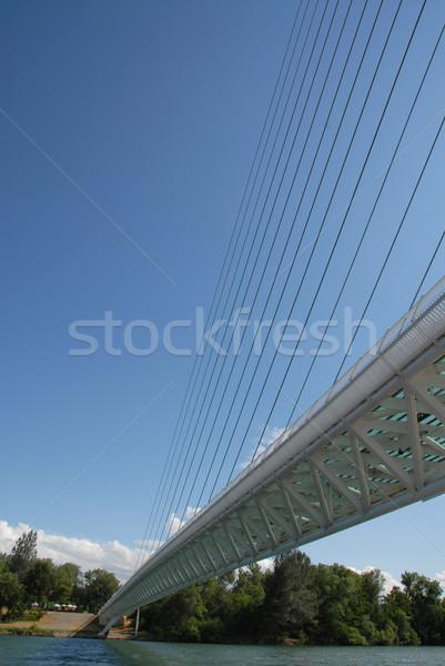 Zegar słoneczny most żółwia kabli Zdjęcia stock © disorderly