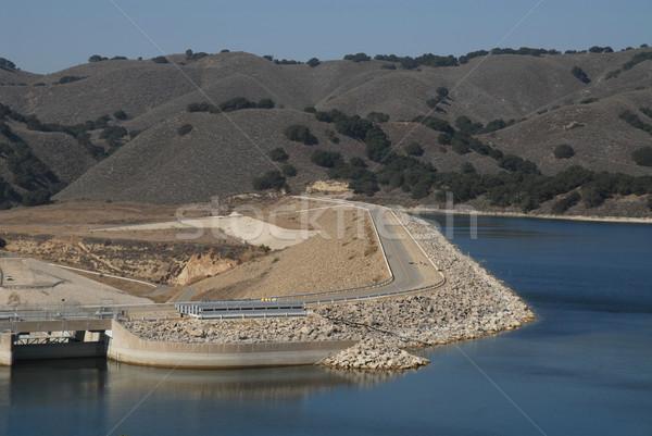 Stock photo: Dam road