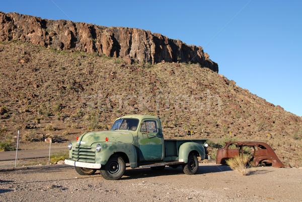 Edad camión ruta 66 Arizona desierto Foto stock © disorderly