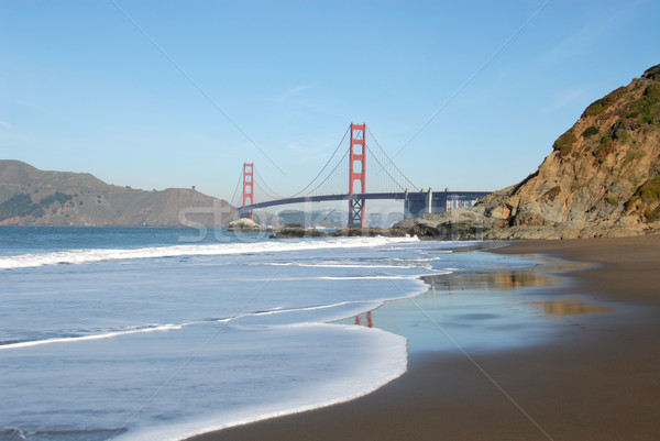 Golden Gate Golden Gate Bridge bakker strand San Francisco Californië Stockfoto © disorderly