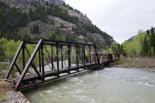Stock photo: Railway bridge