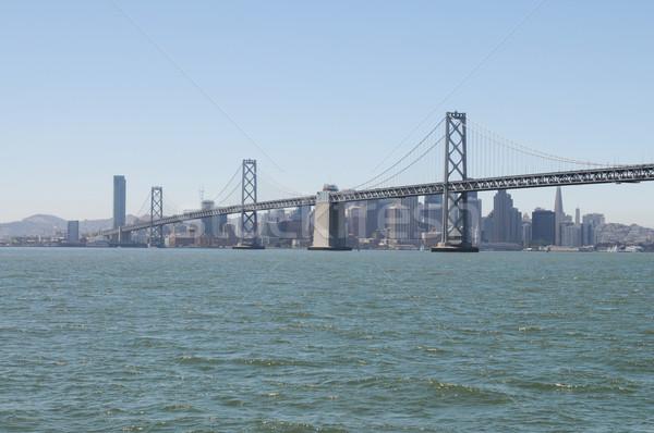 ストックフォト: 橋 · サンフランシスコ · 市 · 後ろ · 水 · 道路