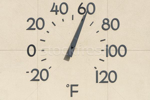 Hőmérő óriás épület külső fal számok Stock fotó © disorderly