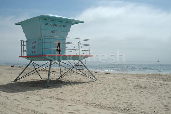 Ratownik stacja Święty mikołaj plaży California piasku Zdjęcia stock © disorderly