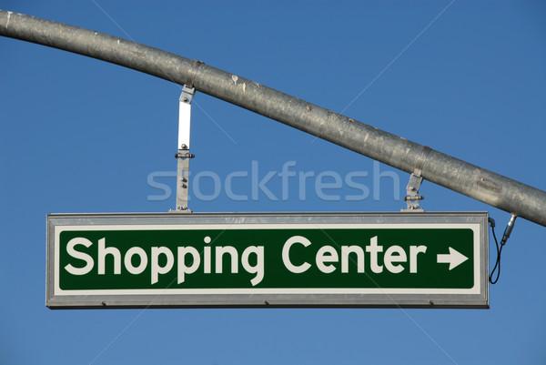 Vásárlás központ helyes fordul irányítás felirat Stock fotó © disorderly