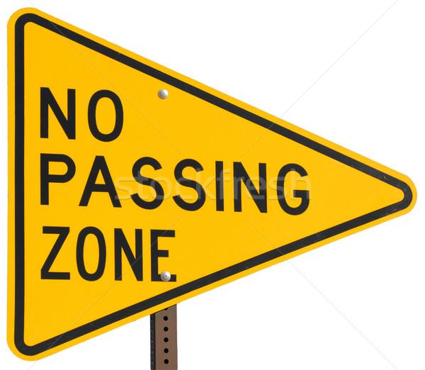 No Passing Zone Stock photo © disorderly