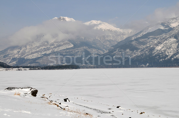 Snow-covered mountains Stock photo © disorderly