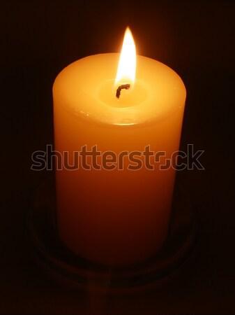 Luz de una vela vela luz oscuro llama columna Foto stock © disorderly