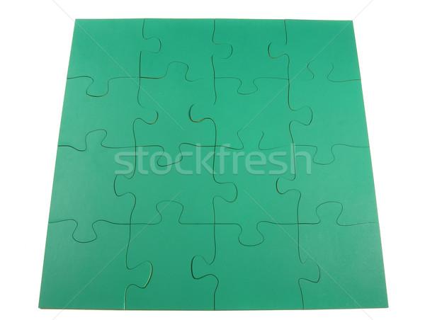 Puzzel succes afwerking uitdagen arrangement Stockfoto © disorderly