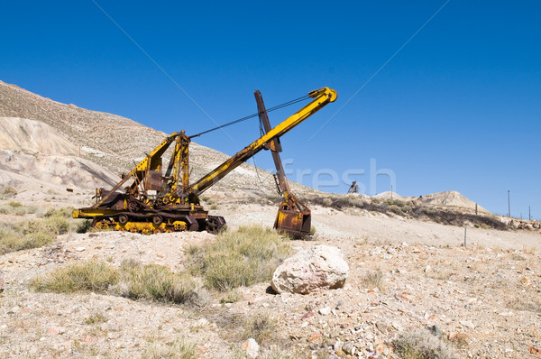 Gőz ásó sivatag Stock fotó © disorderly