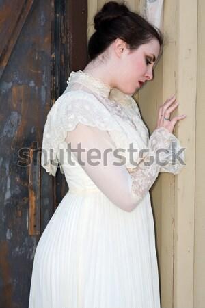 Japon kadın güzel genç sırf bluz Stok fotoğraf © disorderly