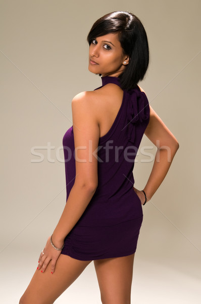 женщину довольно молодые Purple мини Сток-фото © disorderly